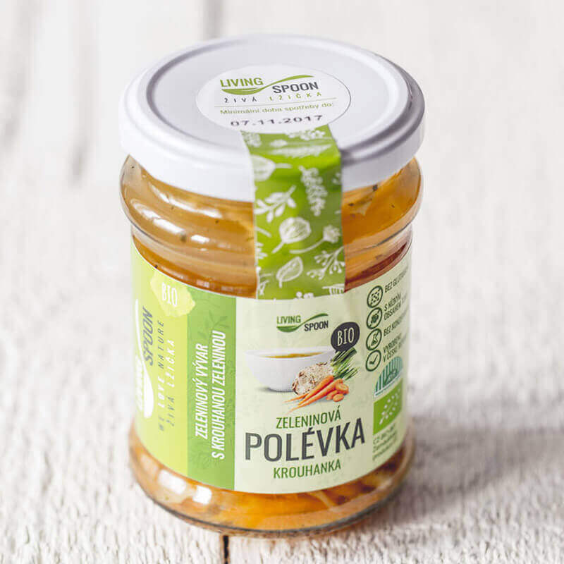 BIO Soup KROUHANKA – prepared from fresh vegetables - product of ecological agriculture
